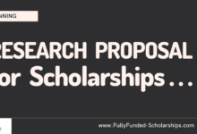 Winning Research Proposal for Scholarship Application Submission